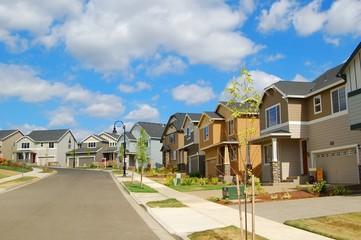 New Homes in Suburban Neighborhood