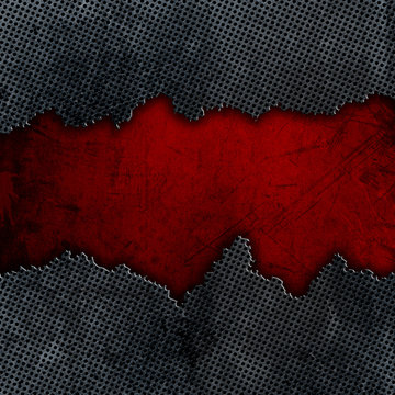 Cracked metal and grunge background