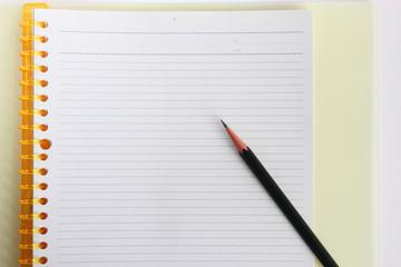 クリアファイル ノートと鉛筆