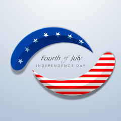 American Independence Day, Fourth of July concept with ribbon.
