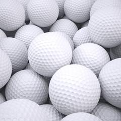 Zelfklevend Fotobehang Golf Background is out of golf balls