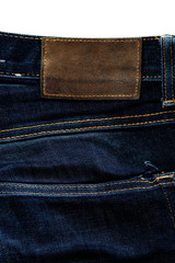 jeans texture with label