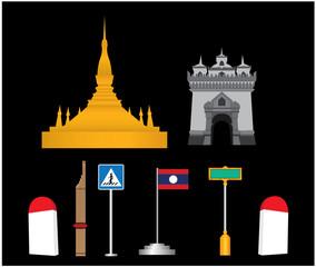 Laos vector set