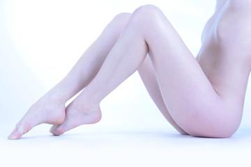 Beine und Torso einer Frau