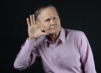 deaf old man