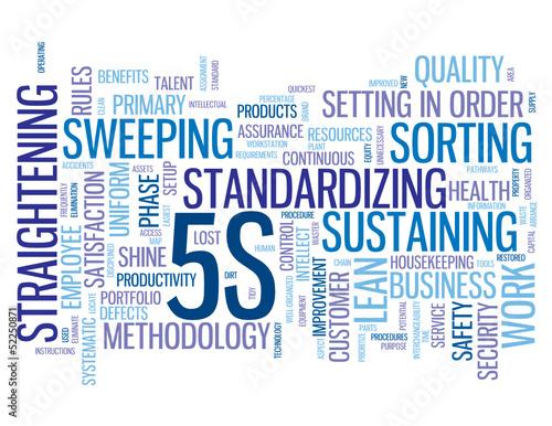 Quot Quot 5s Quot Tag Cloud Organization Methodology Lean Process
