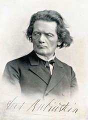 Portrait of russian pianist and composer Rubinstein