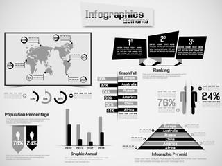 INFOGRAPHIC DEMOGRAPHIC ELEMENT WEB NEW STYLE BLACK