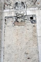 Basilica of S. Maria Colle: cemented door, Pescocostanzo,Italy