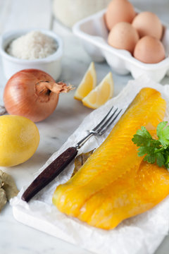 Smoked Haddock & kedgeree ingredients