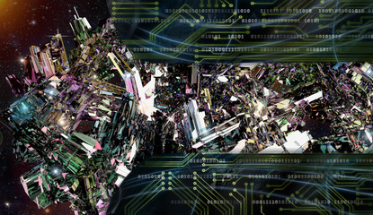 Fotobehang - Crystal planet