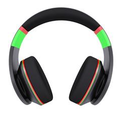 Stylish black headphones