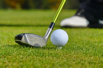 Golf Ball and Club, Man playing golf