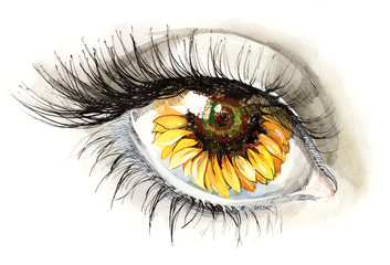 sunflower eye