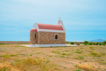 Wall Mural - Greece Cyclades Islands, Church view in Syros island at summer t