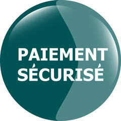 paiement securise, secure icon button