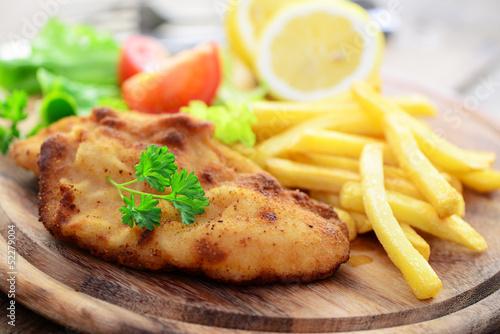 Шницель с картошкой рецепт