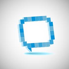 Fotobehang Pixel Vector character, the speech bubbles, drawing in perspective