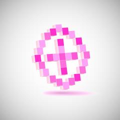 Fotobehang Pixel Three-dimensional Shape