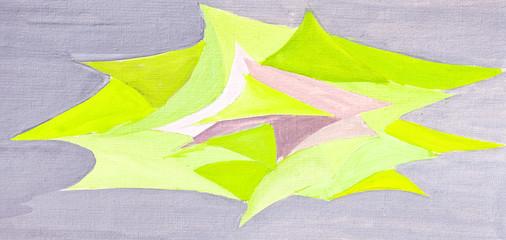 geometric triangular plane objects drawn