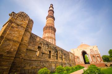 Deurstickers Delhi qutub minar