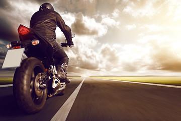 Fototapete - Motorbike on Highway