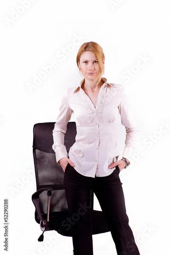 фото начальница в белом