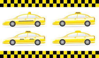 taxi cars set