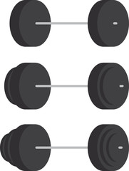 Set of strength training weights