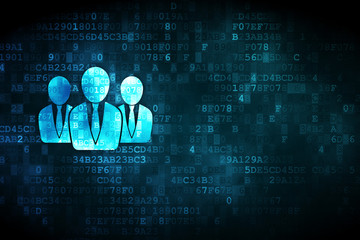 Finance concept: Business People on digital background
