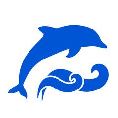 Photo sur Aluminium Dauphins Dolphin Silhouette