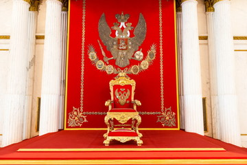 Russian old vintage emperor chair