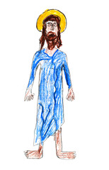 child's drawing - Jesus Christ