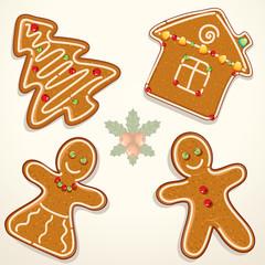 Gingerbread Cookie Illustration