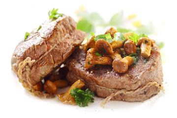 Grilled medallions of fillet steak