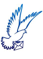 Barış sembolu  güvercin  (haberci)
