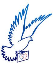 Barış sembolu güvercin  (versiyon 6)