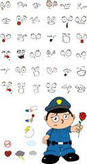 funny kid cartoon policeman set9