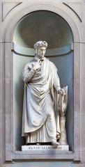 stone statue of Dante Alighieri