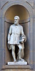 stone statue of Benvenuto Cellini