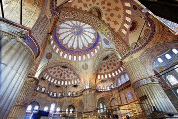 Interior view of Blue Mosque