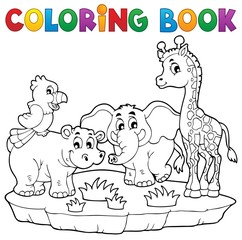 Coloring book African fauna 2