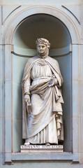 stone statue of Giovanni Boccaccio