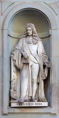 stone statue of Francesco Redi