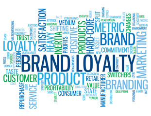 """BRAND LOYALTY"" Tag Cloud (customer consumer satisfaction card)"