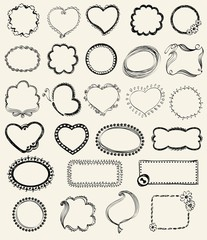 Illustration of Hand-Drawn Doodles and Design Elements.