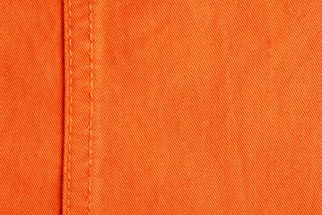 orange jeans fabric detail