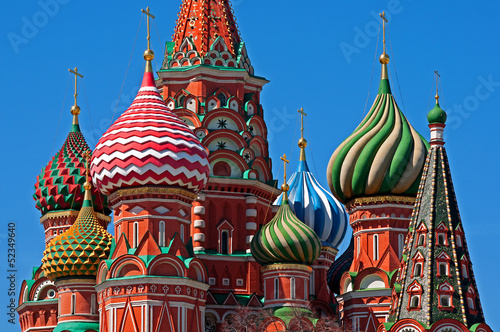 Fototapete Moscow Saint Basil Cathedral cupola