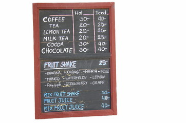blackboard price isolated