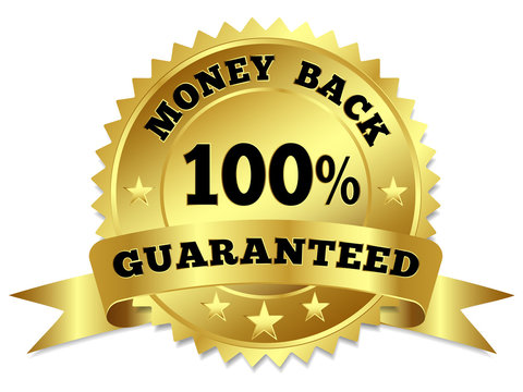Money Back Guaranteed Gold Badge